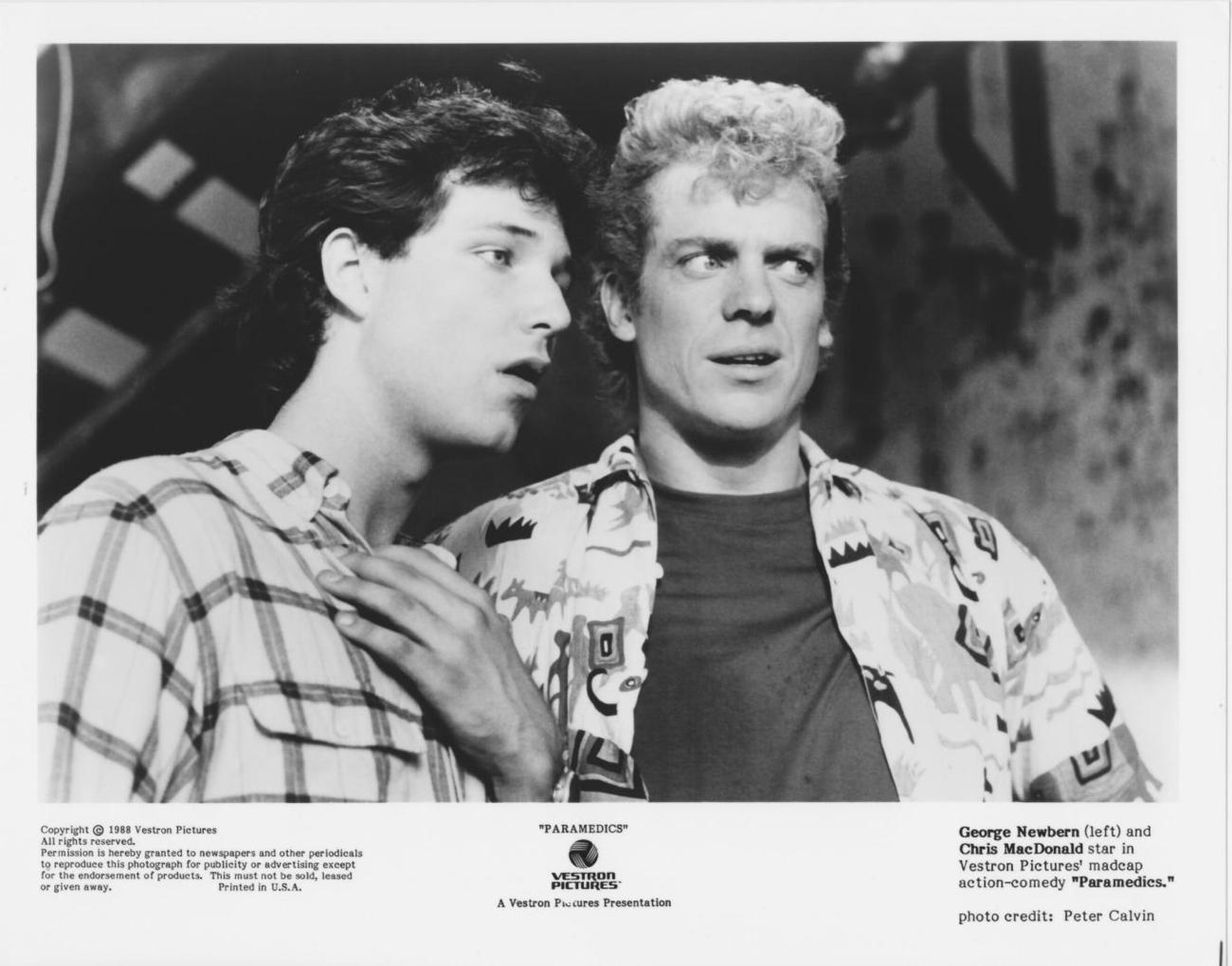 Paramedics George Newbern Chris McDonald 8x10 Photo 1691801