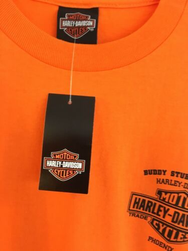 Harley-Davidson HD Men's Size L Orange T Shirt NEW NWT Phoenix Az Buddy Stubbs image 2