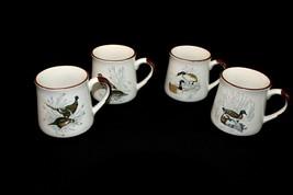 Beautiful set of 4 Enesco Designed Giftware Variety Of Wild Birds 1987 Mugs A100 - $39.95