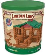 Building Sets Lincoln Logs 100th Anniversary Tin 111 All Wood Pieces Age... - $64.30