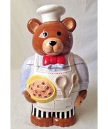 Neiman Marcus Chef Teddy Bear Cookie Jar 1996 Store Exclusive - $23.95