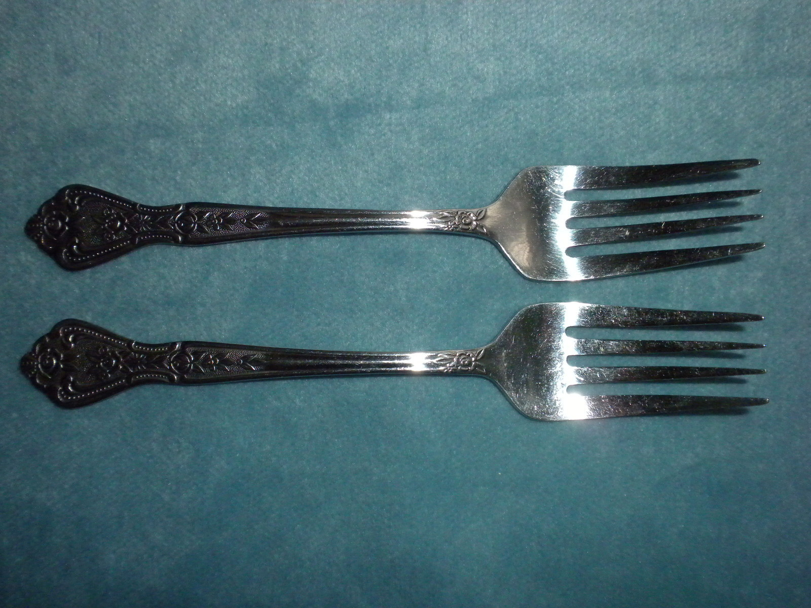 "Primary image for Rogers Stainless  2 Dessert Salad Forks 6""  Betty Crocker"