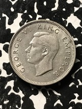 1941 New Zealand 1 Shilling Lot#X3486 Silver! Nice! Key Date! - $42.08