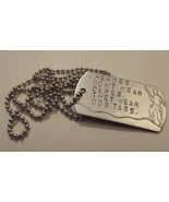 Support our troops dog tag - $20.00