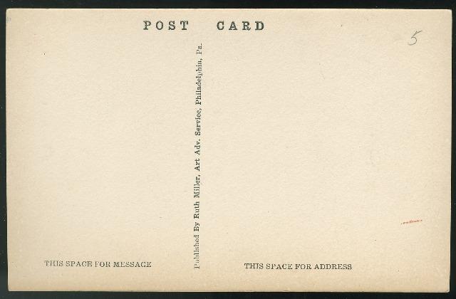 Carpenters Hall Philadelphia PA Artist signed Helen L Woerner 1930 Postcard