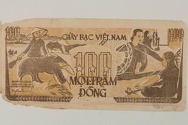 1951 North Vietnamese 100 Dong Note // Communist Vietnam // Pick#35 - $49.50