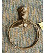 "Towel Ring Western Cowboy Boot Decor 9-3/"" Tall Ring 6"" Diameter Cast Ir... - $15.84"