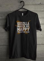 Godzilla makes me happy - Custom Men's T-Shirt (3989) - $19.13+