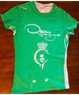 CLARENDON Made in USA Oscar de la Renta crown soft T-shirt green white E... - $47.99
