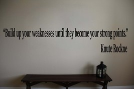"""Knute Rockne Notre Dame Football Wall Quote Vinyl Sticker Decal 6""""h x 30""""w  - $19.99"""