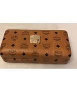 MCM Munchen Signature Pattern Glasses Brown Leather Case - $29.70