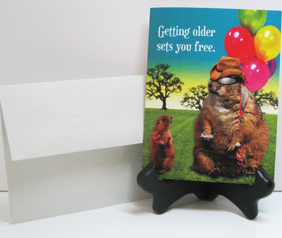 Funny Prairie Dog Birthday Card: Aging Sets You Free