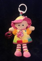 """LAMAZE pink yellow Crinkle Rattle Teether ACTIVITY DOLL baby plush toy 11"""" - $9.49"""