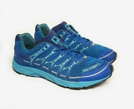 Merrell Womens Size 9.5 Mix Master Move Glide Waterproof Trail Running Shoe Blue - $37.95