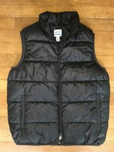 * old navy solid black puffer zip up vest kids size medium 8 - $11.88