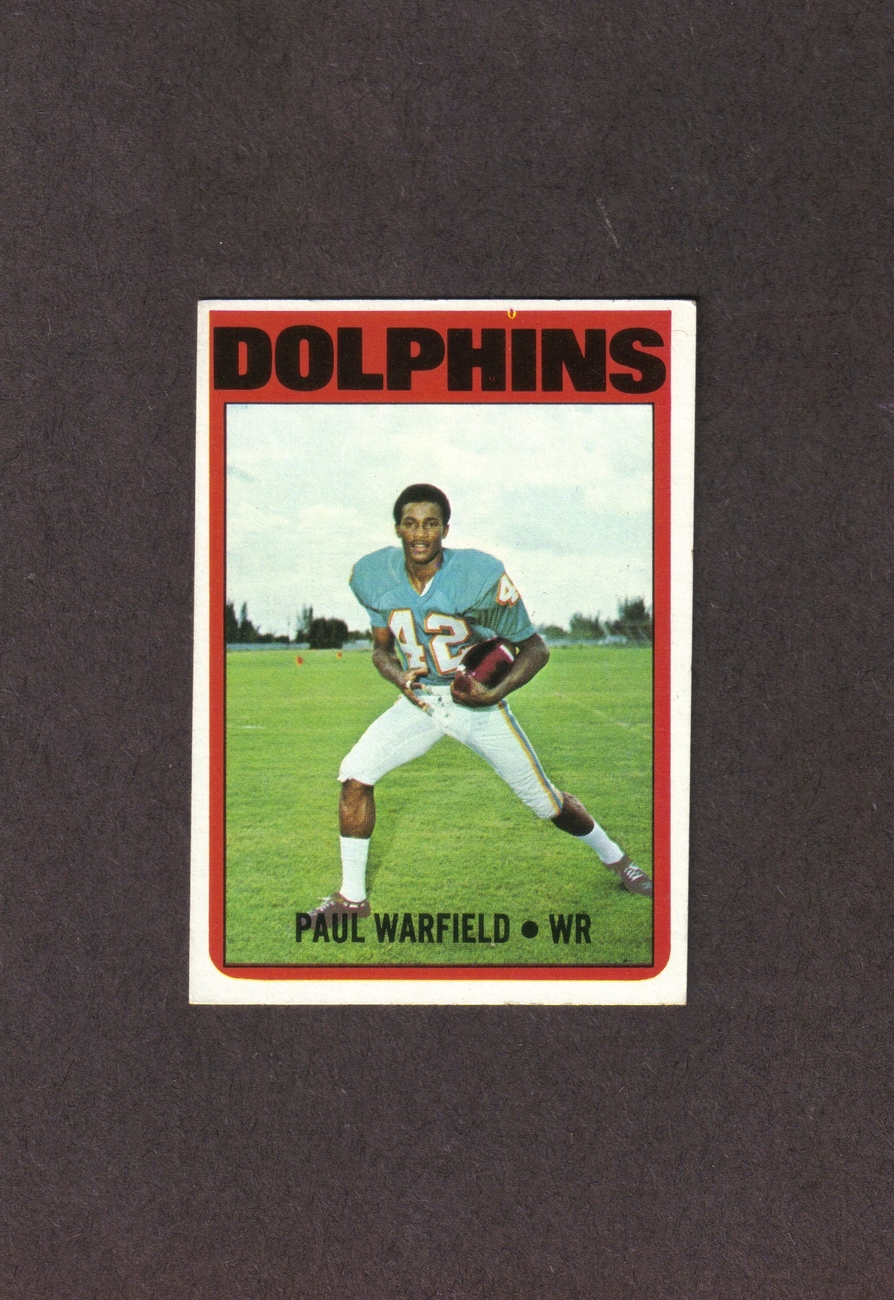 1972 Topps # 167 Paul Warfield Miami Dolphins