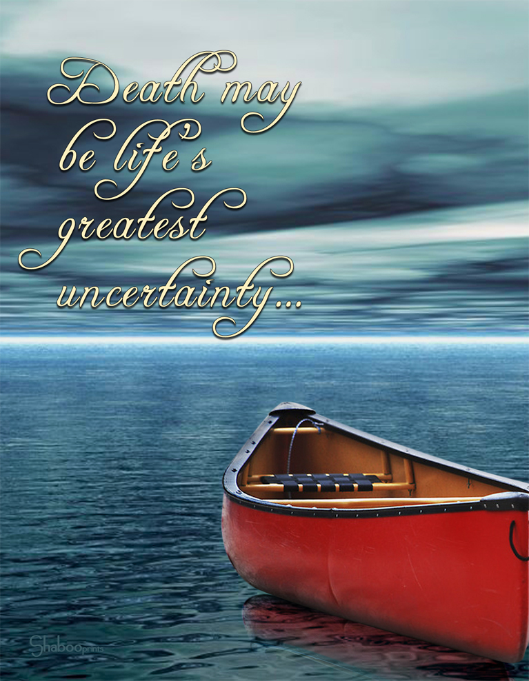 Spiritual Sympathy Card With Canoe: Uncharted Sea