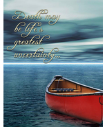 Spiritual Sympathy Card With Canoe: Uncharted Sea - $4.25
