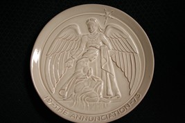 1973 Frankoma Pottery~The Annunciation~Christmas Plate~By John~Mint - $11.97