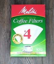 Melitta #4 White Cone Coffee Filters, Drip or Pour Over, Biodegradable, ... - $6.90