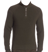 $398 Polo Ralph Lauren Half-Zip Moto Sweater Size: Large - $94.04