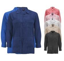 Men's Guayabera Long Sleeve Button Up Cuban Beach Casual Embroidered Dress Shirt