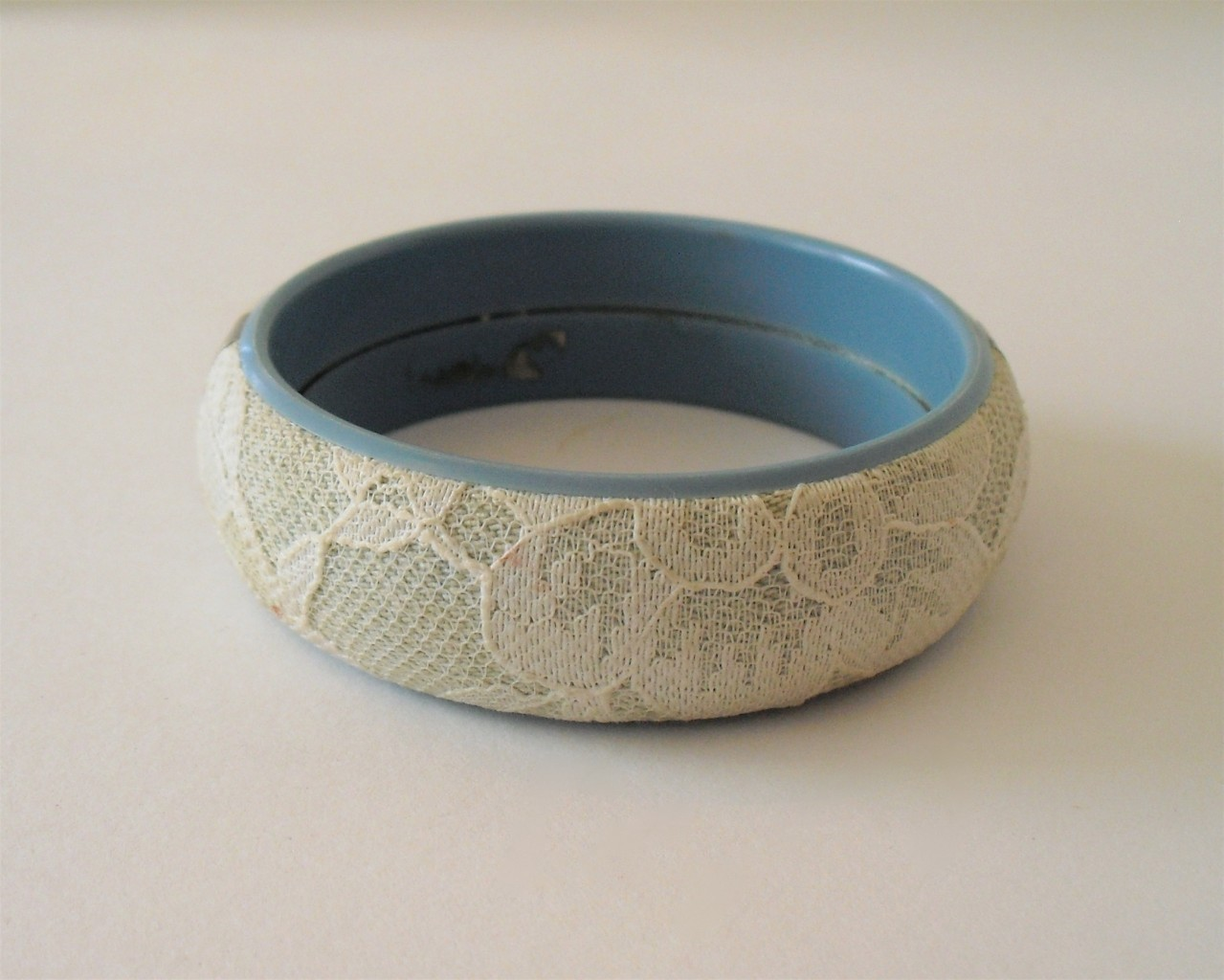 Primary image for Vintage Bangle Bracelet with Lace costume jewelry