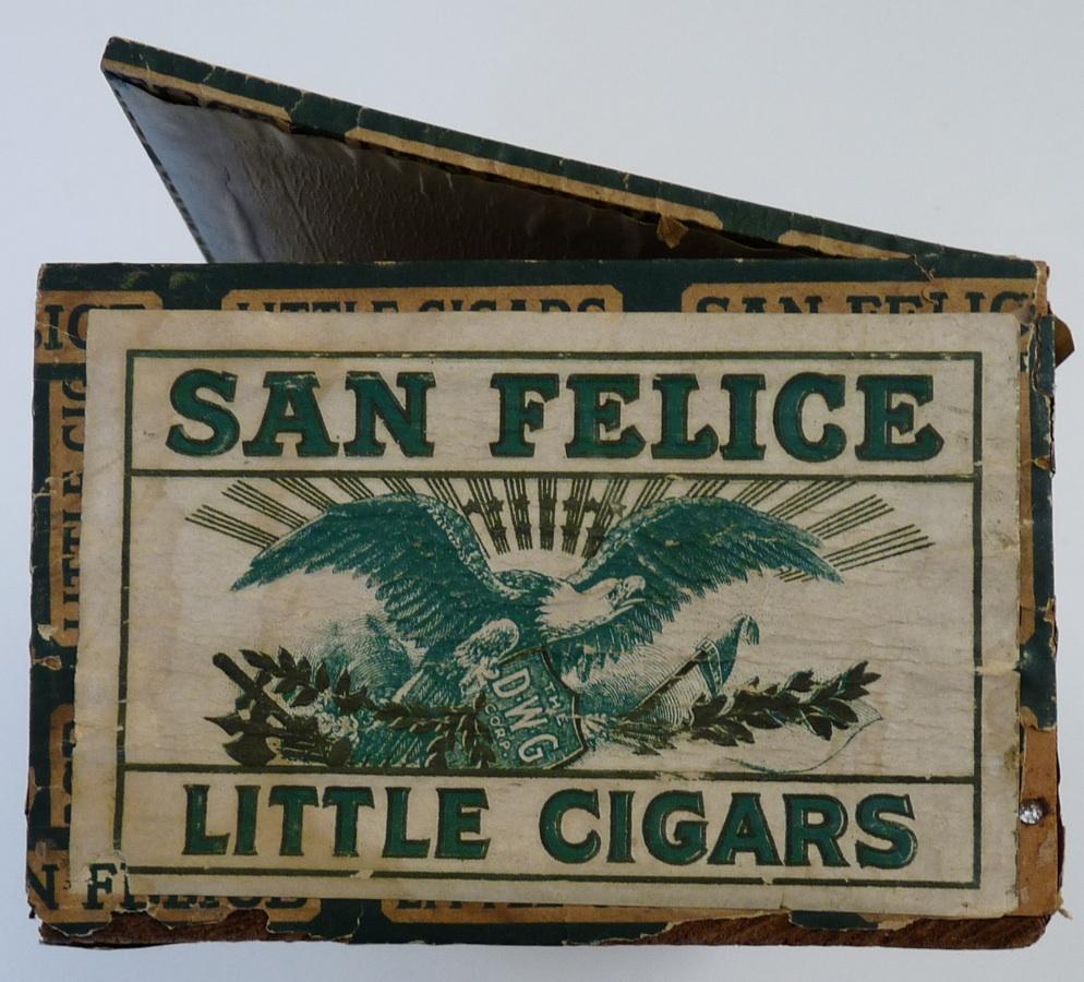 San Felice vintage cigar box eagle label