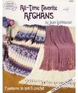 CROCHET ALL-TIME FAVORITE AFGHANS BY JEAN LEINHAUSER - $4.95