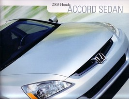 2003 Honda ACCORD SEDAN sales brochure catalog 03 US - $7.00