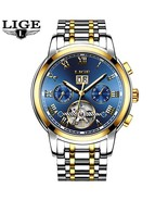 LIGE Watch Men Business Waterproof Clock Mens Watches Brand Luxury Fashi... - $70.48