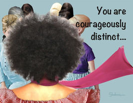Unique Inspirational Card On Individuality: Courageously Distinct - $5.00