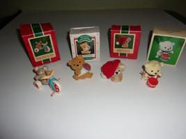 Hallmark Keepsake Ornament Bear Lot 4 Christmas Vintage 80s - $31.49