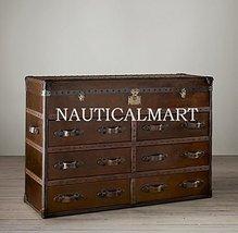 NauticalMart Mayfair Steamer Trunk 6-Drawer Double Chest - Vintage - $3,094.00