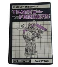 1986 Hasbro Transformers Galvatron Evil Decepticon Instruction Booklet M... - $44.22