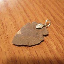 Silver clasp Stone Arrowhead Pendant - $5.35