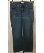 Lee Women's Slender Secret Flap Pocket Embellished Blue Jeans Size 6 S (... - $13.95