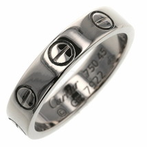Cartier Ring Mini Love K18 White Gold US4 Used MINT condition women men  - $732.91