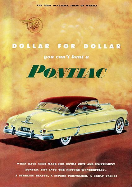 Primary image for 1950 Pontiac Super De Luxe Catalina - Promotional Advertising Poster