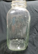 Vintage #16 U Hazel Atlas HA 1/2 Half Gallon LI... - $6.93