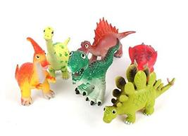 ETS Toys Soft Fluffy Cartoon Style Dinosaurs Miniature Action Figure Figurines T