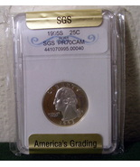 1995 Silver Quarter SGS Graded PR70 PR-70 - $89.99