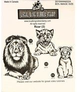 Local King Rubber Stamp Roar (3) Rubber Stamp Set - $15.25