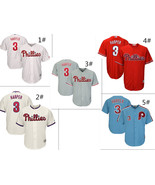 Men's Philadelphia Phillies #3 Bryce Harper Cool Base Series Jersey - $40.99