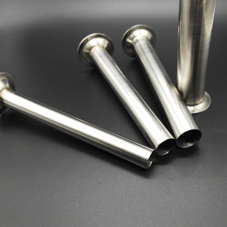 4pcs Stainless Steel Food Safe Grade Sausage Stuffer Filling Tubes Funnels Easy