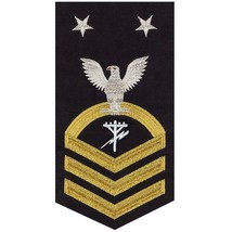 NAVY E9 MALE RATING BADGE: CONSTRUCTION ELECTRICIAN(CE) - SEAWORTHY GOLD... - $36.61