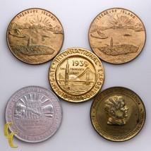 1939 Golden Gate International Expo 5 pc Medal Lot - $61.48
