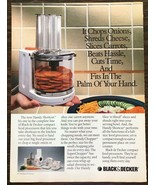 1989 Black & Decker Compact Food Processor PRINT AD Fits in the Palm o Y... - $11.01
