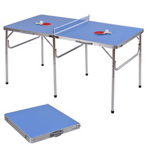 60 Portable Table Tennis Ping Pong Folding Table w/Accessories Indoor Ga... - $145.98
