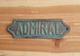 Admiral Sign Plaque Nautical Admirals Quarters Wall Decor Coastal Beach - $13.99